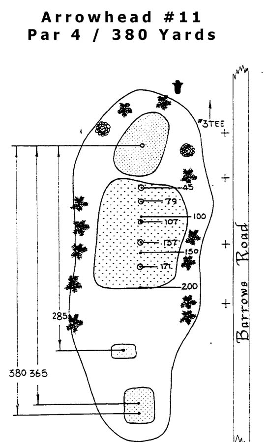 Arrowhead Hole 11 Layout