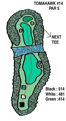 Tomahawk Hole 14 Layout