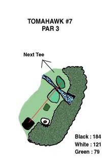 Tomahawk Hole 7 Layout