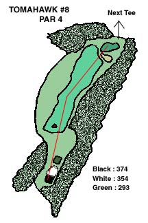 Tomahawk Hole 8 Layout